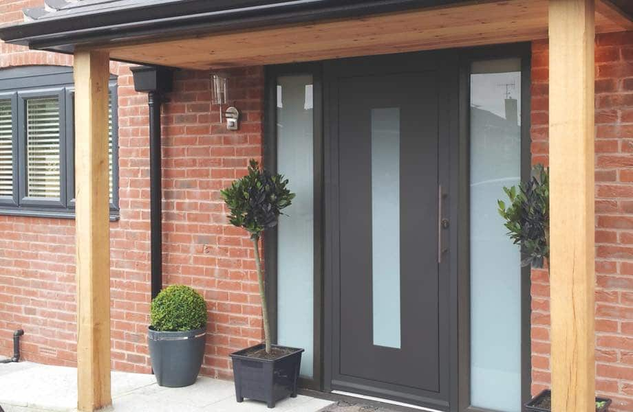 IDSystems contemporary aluminium front doors