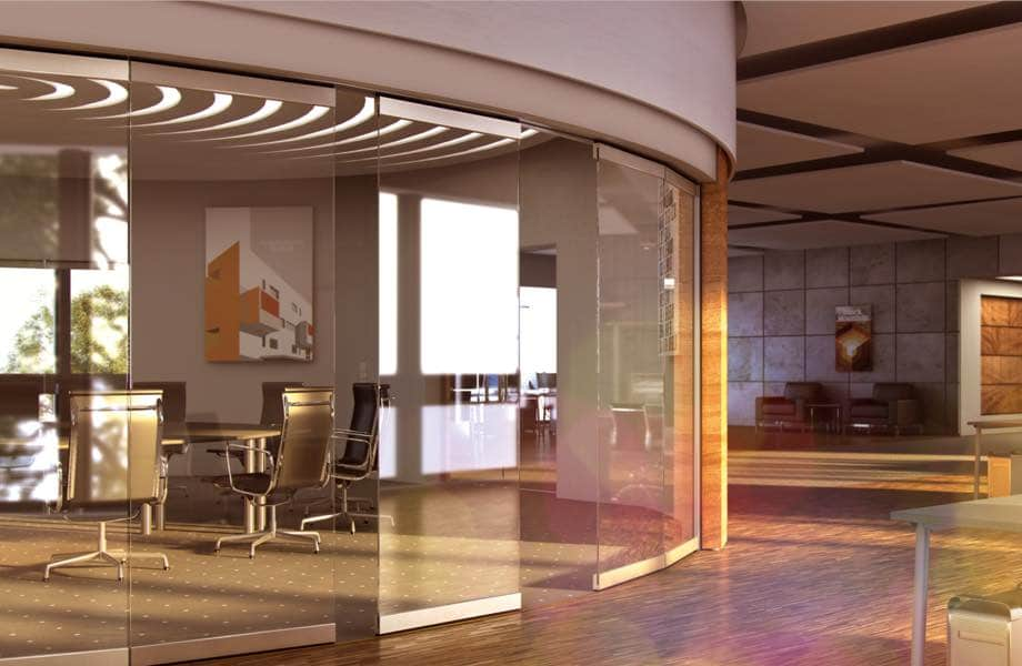 IDSystems commercial internal glass partitions